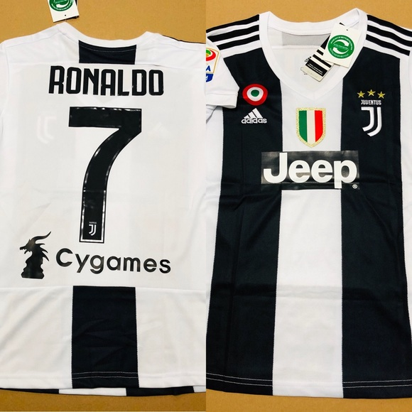 6679a5877 Fan Apparel   Souvenirs Soccer-International Clubs NWT Adidas Cristiano  Ronaldo Juventus Men Home Jersey with ...